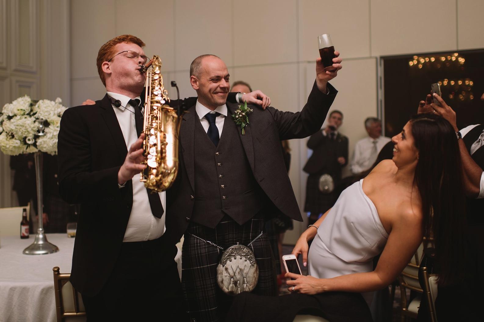 Saxophone Wedding Kilt Scotland