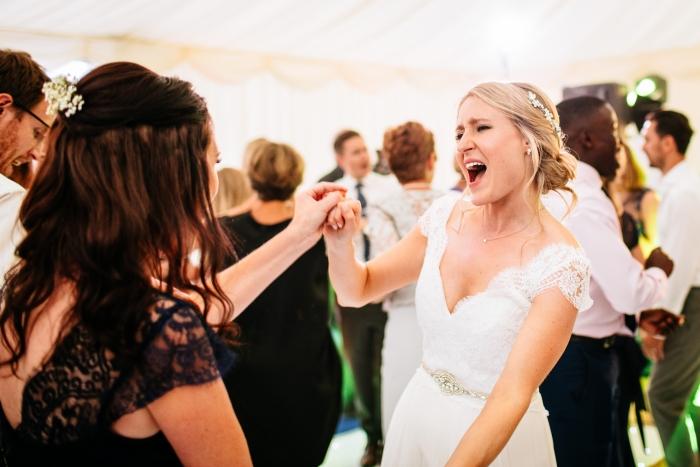 bride dancing the night away wedding