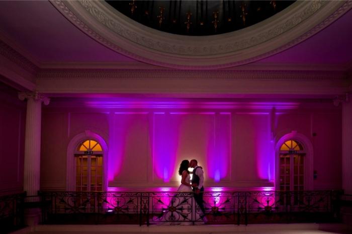 stunning wedding up lighting