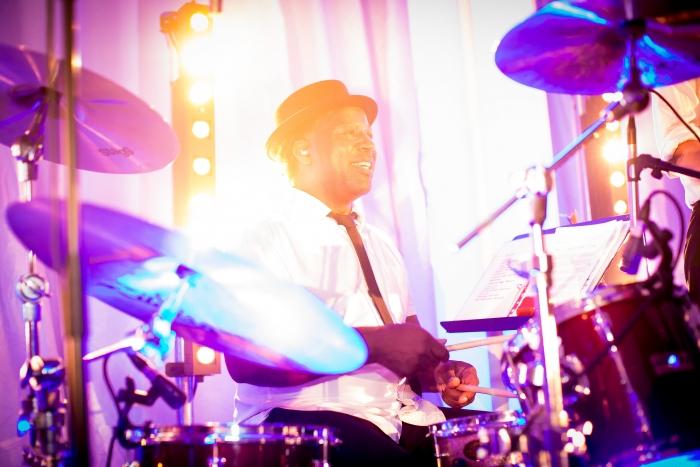 Live drummer at wedding