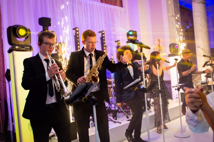 Spark Machines On Stage at Wedding