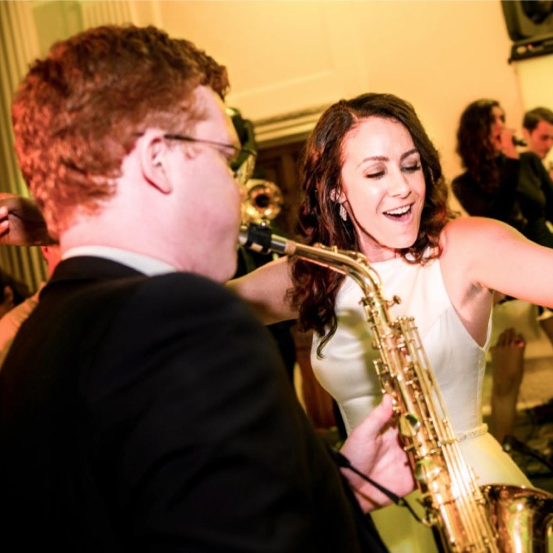 saxophone solo to bride