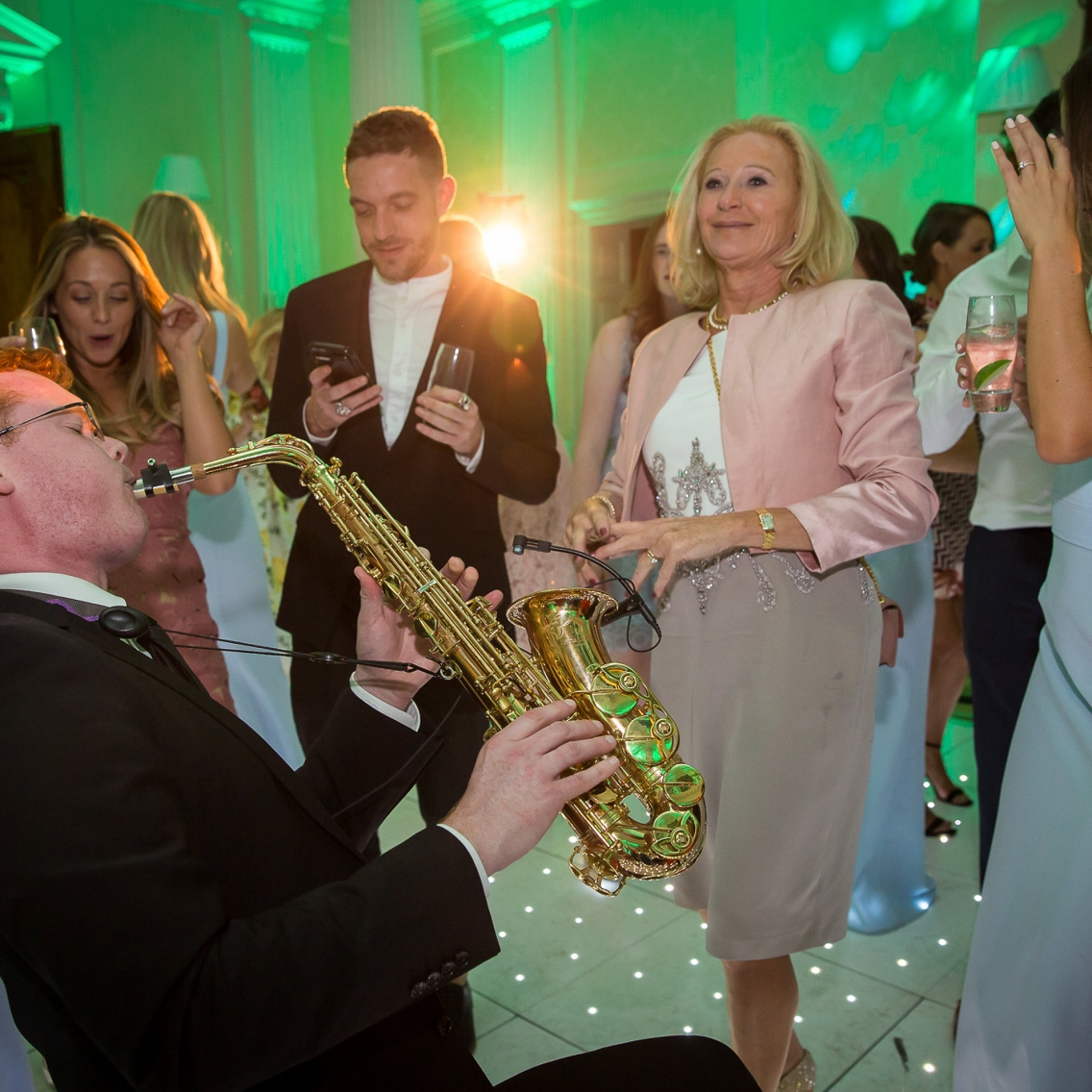 saxophone solo in the crowd