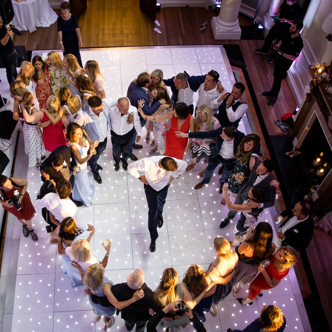 groom dancing at hedsor house