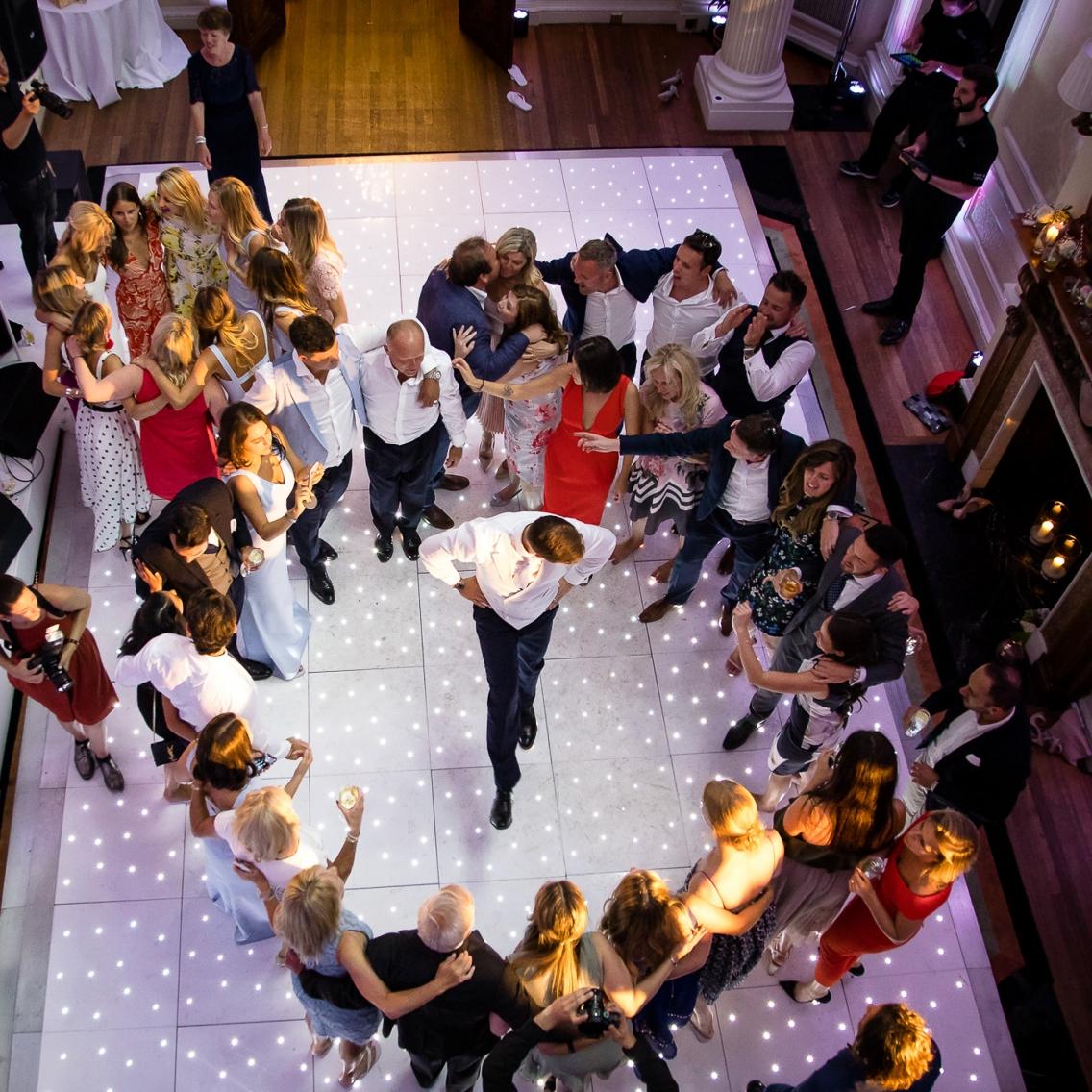 groom dancing at hedsor house