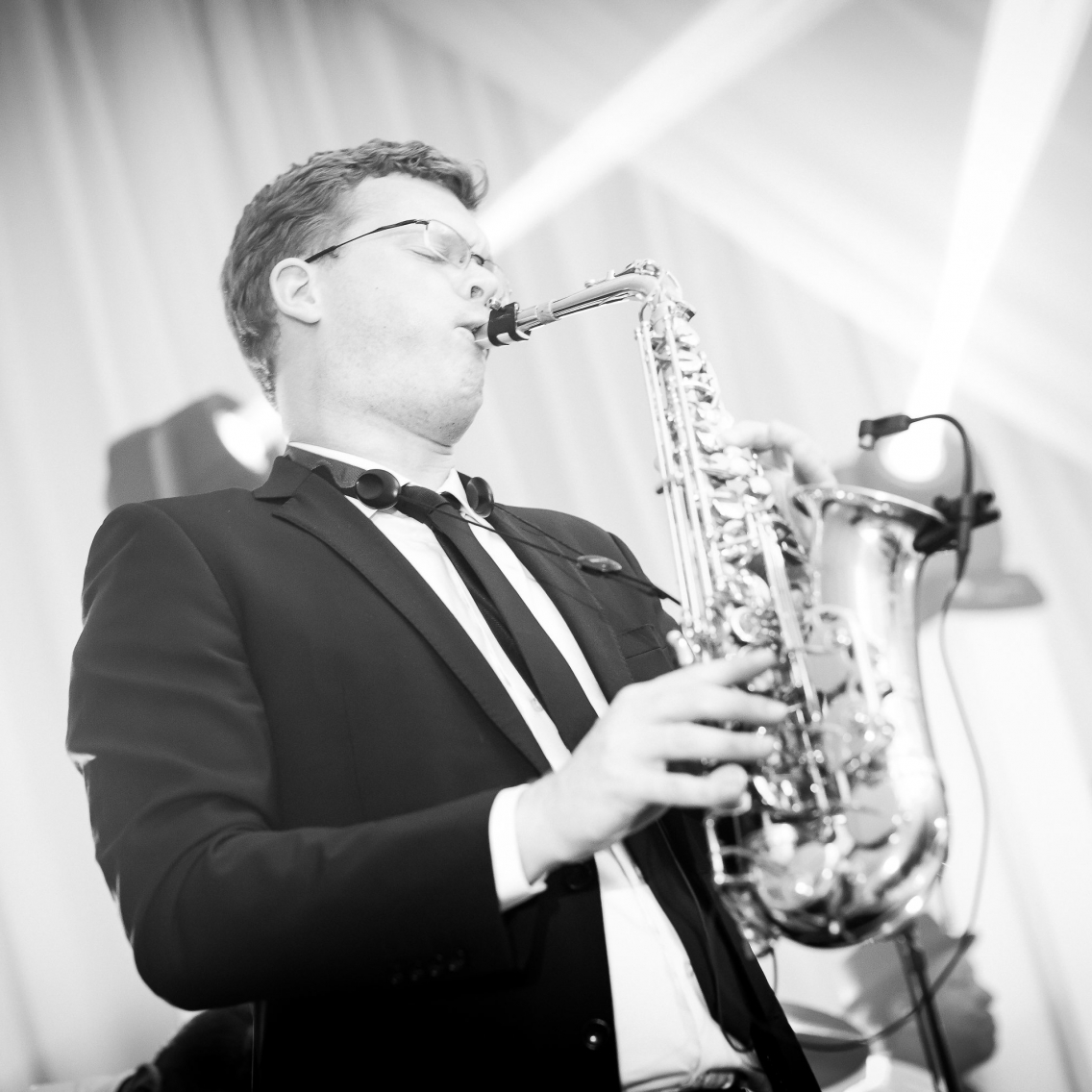 Saxophonist soloing