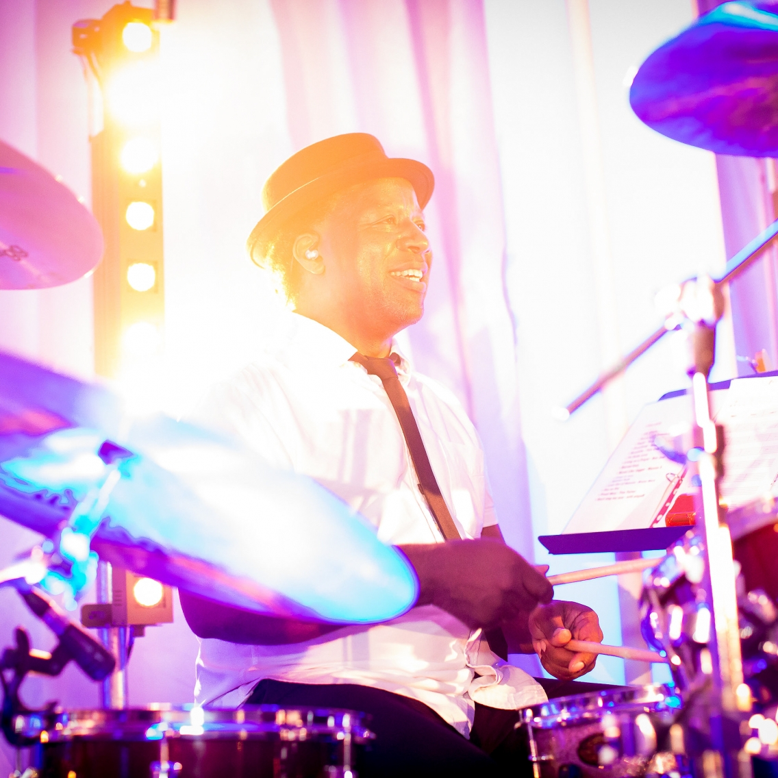 Live drummer at wedding