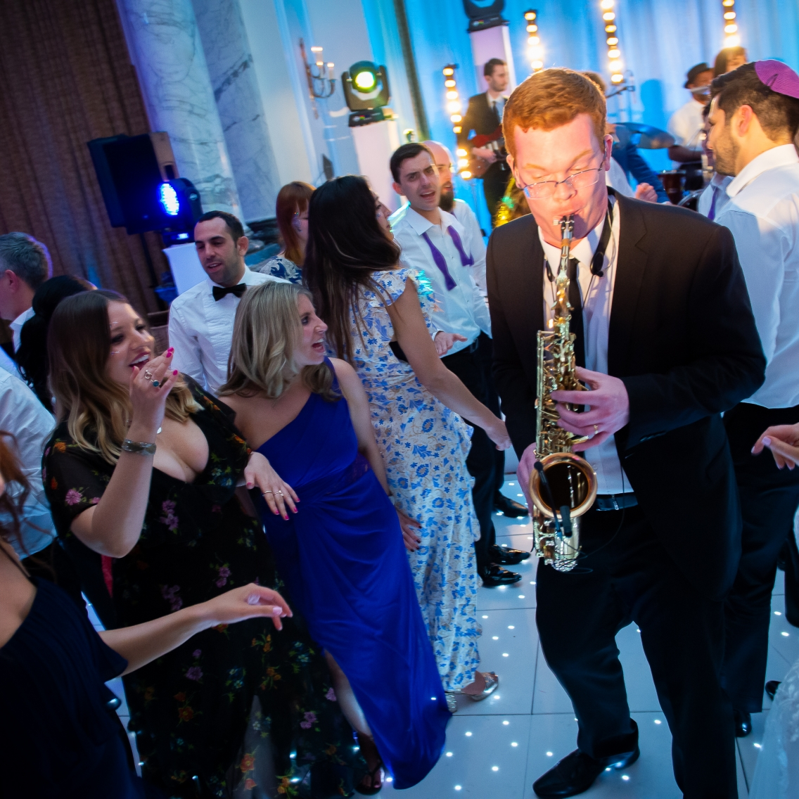 Saxophonist on the Dance Floor
