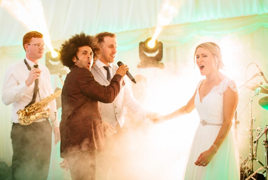 Wedding Guests Singing Along