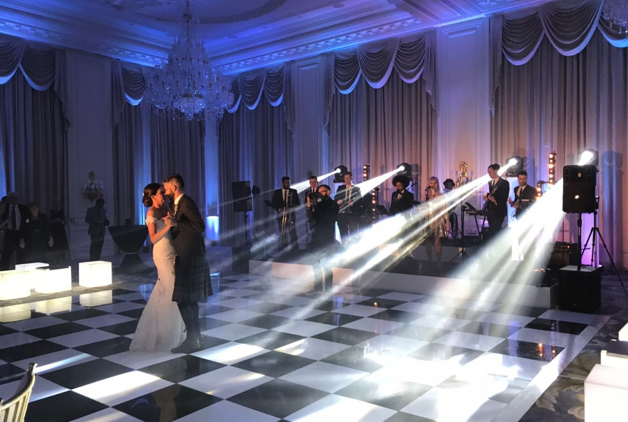 Stunning Wedding Lighting and Staging